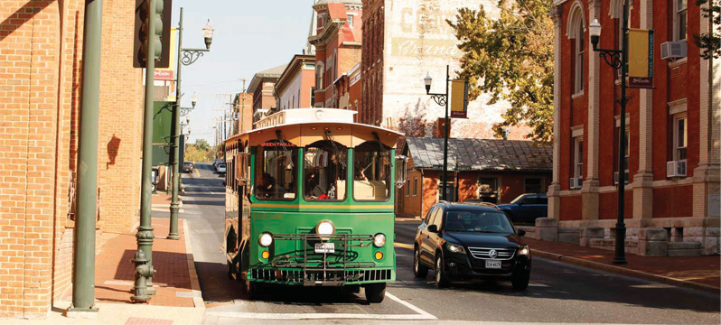 Staunton's famous green trolley