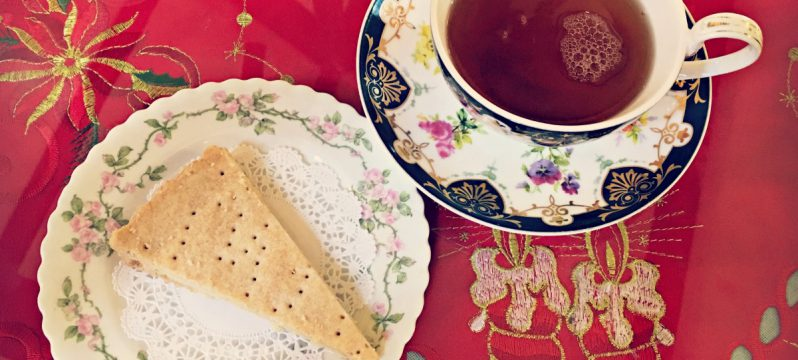 Tea and pastries from Anne Hathaway's Cottage Tea Room