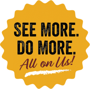 See More. Do More. All on Us. Meeting Incentive Program badge for Staunton, Virginia